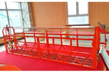 스틸 정지 액세스 플랫폼 7.5m 1.8kw 800kg 건물 유지 보수